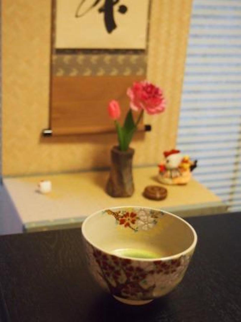 和モダン茶室は心が落ち着きます。